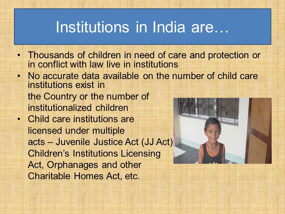 Institutions in India are…
