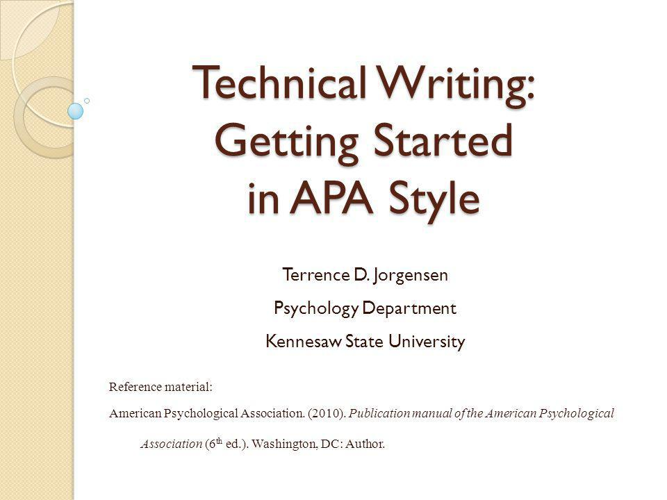 Technical Writing & Editing