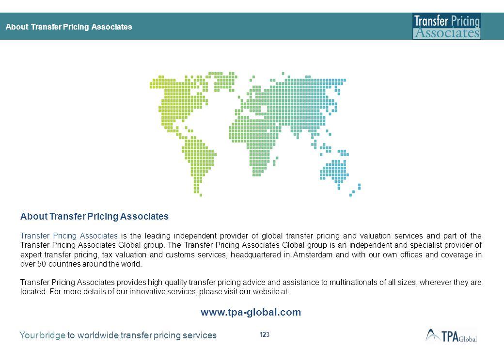 © Copyright 2012, Transfer Pricing Associates BV ('TPA')
