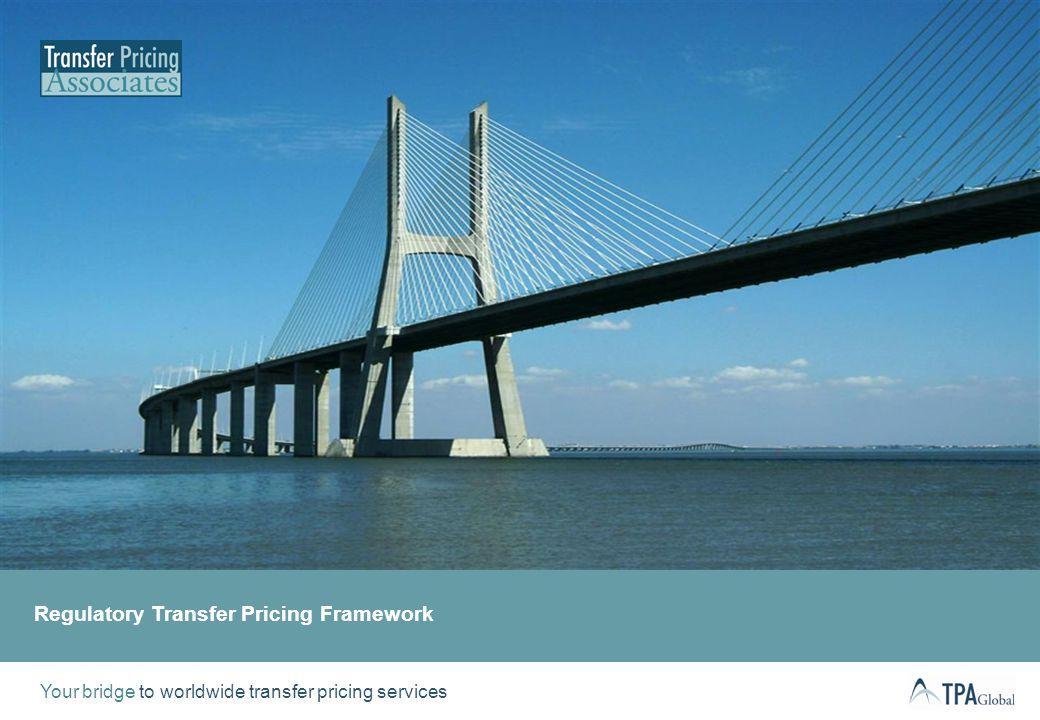 Regulatory Transfer Pricing Framework | Agenda