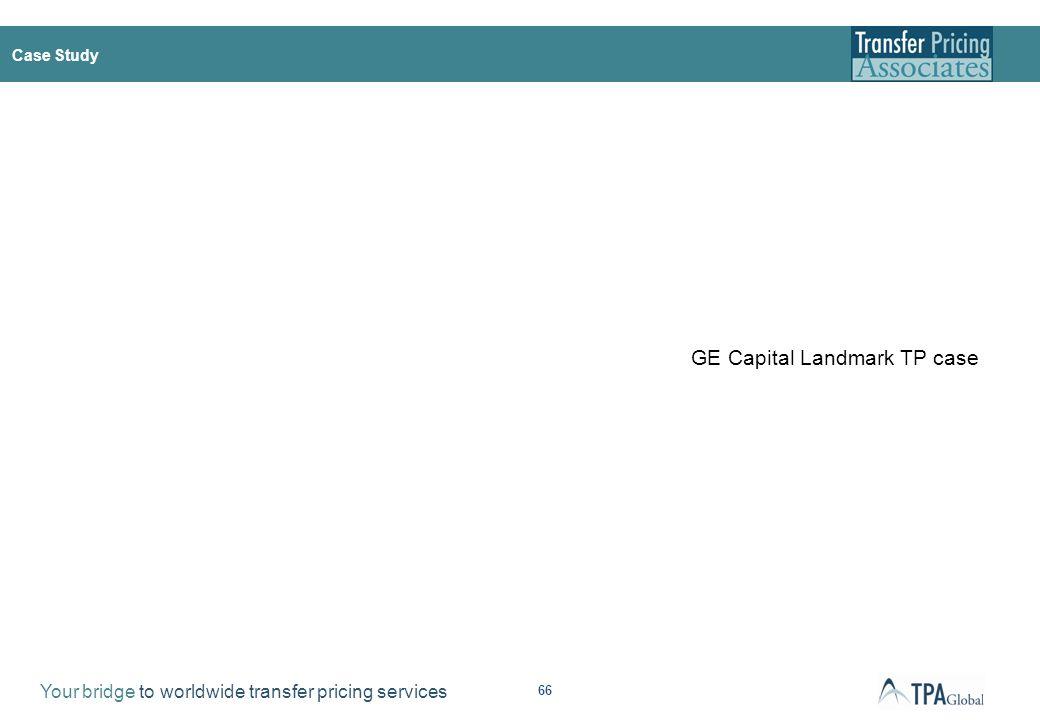 Case Study - GE Capital Landmark TP case (Canada)