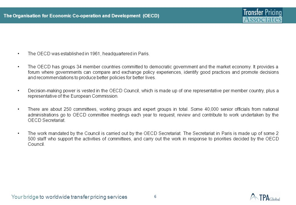 The OECD TP Guidelines
