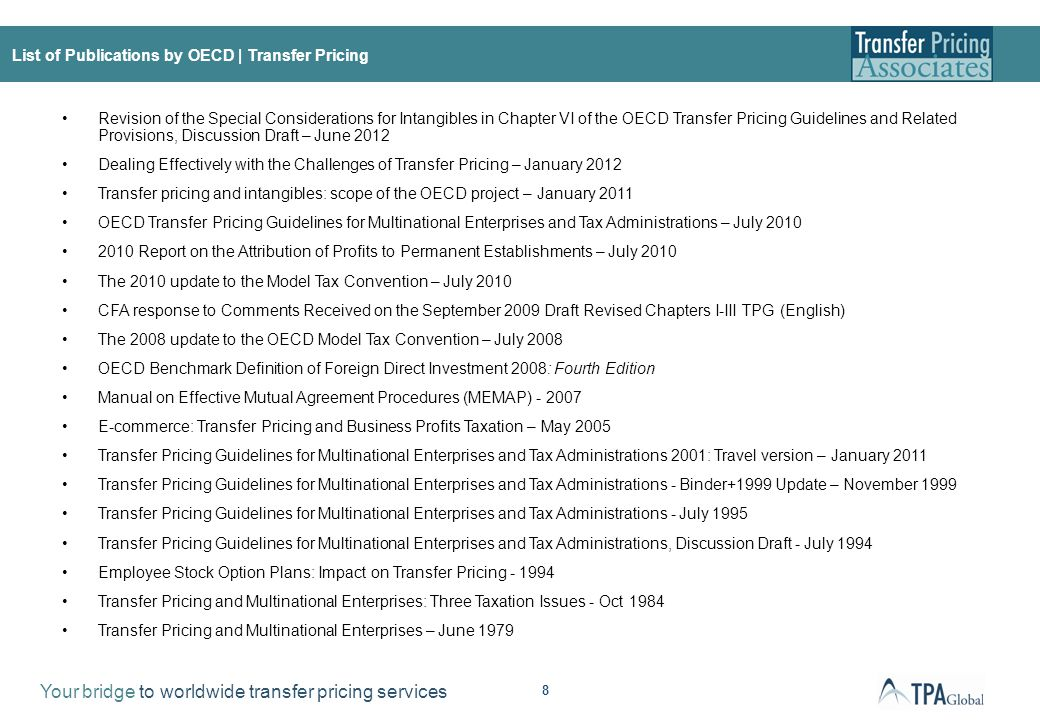 The OECD TP Guidelines | Technical introduction