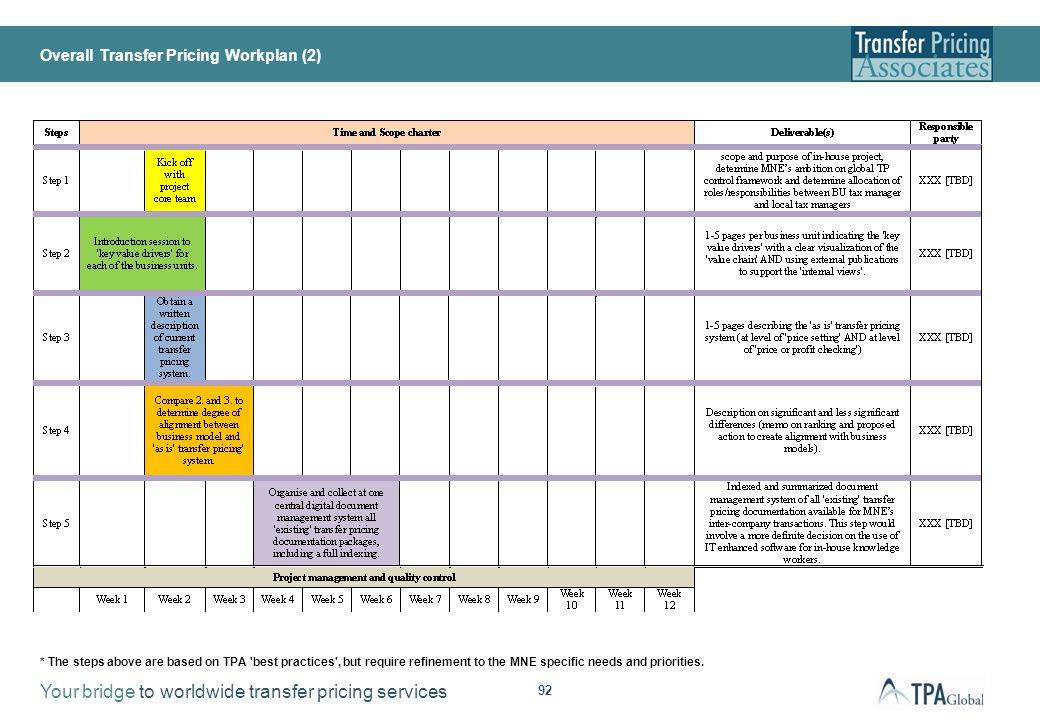 Overall Transfer Pricing Workplan (3)