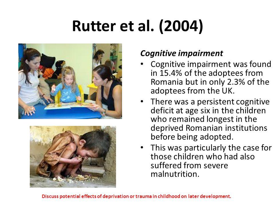 Rutter et al. (2004) Cognitive impairment