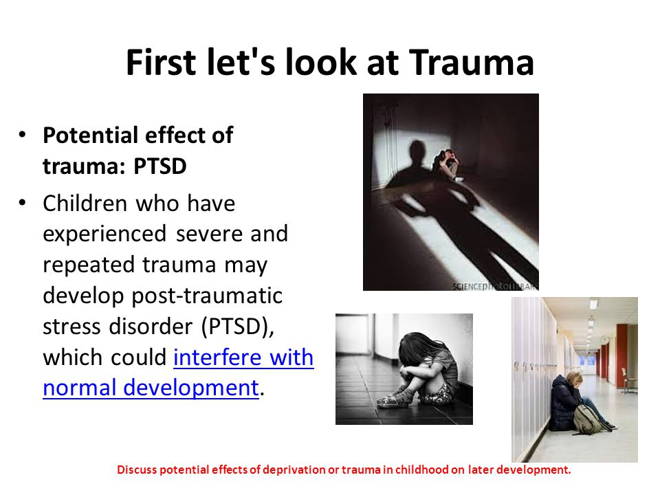 First let s look at Trauma