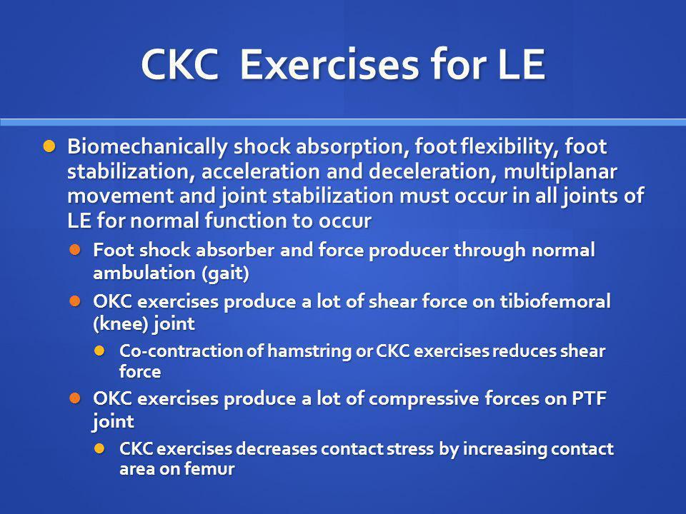 CKC Exercises for LE