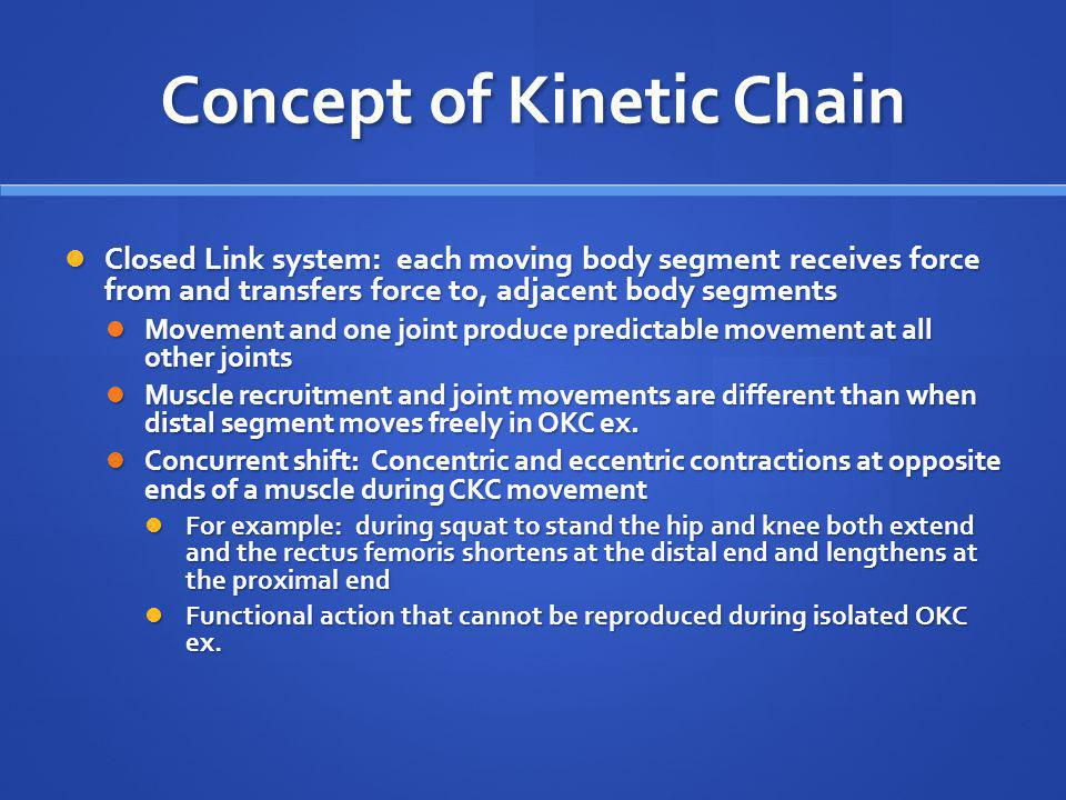 Concept of Kinetic Chain