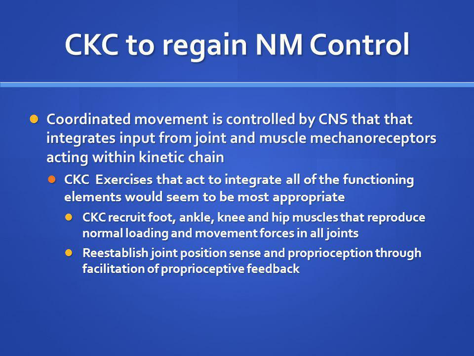 CKC to regain NM Control