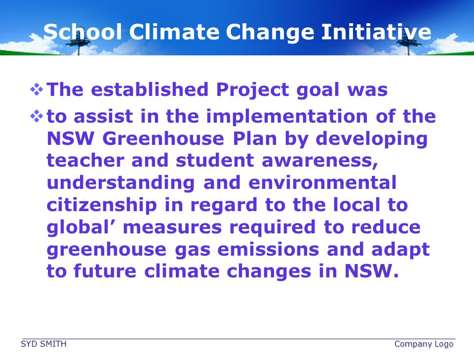 School Climate Change Initiative