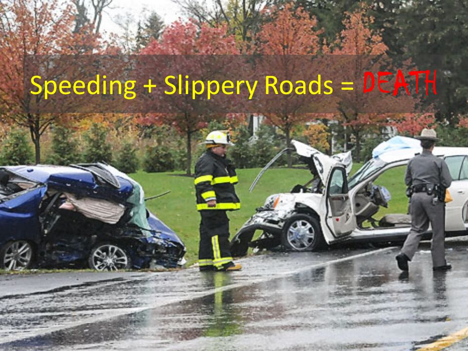Speeding + Slippery Roads = DEATH