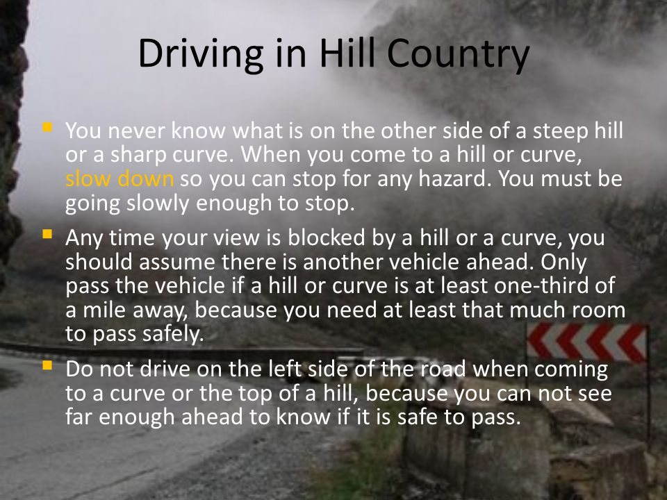 Driving in Hill Country