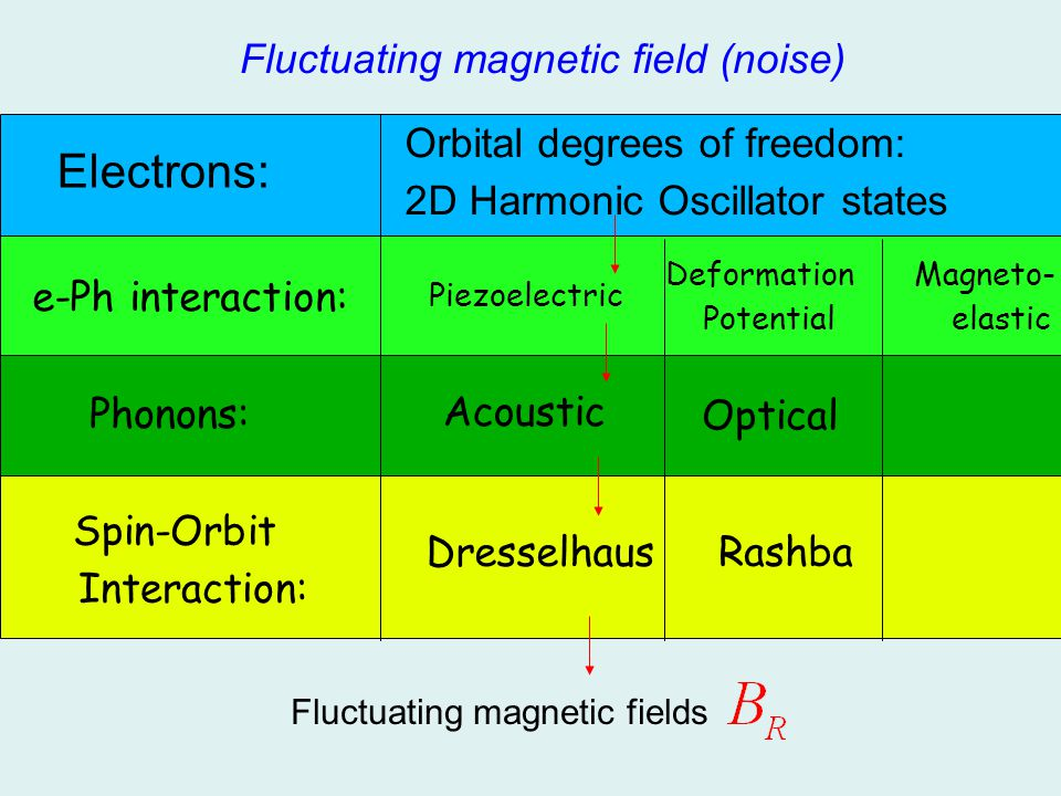Electrons: Fluctuating magnetic field (noise)