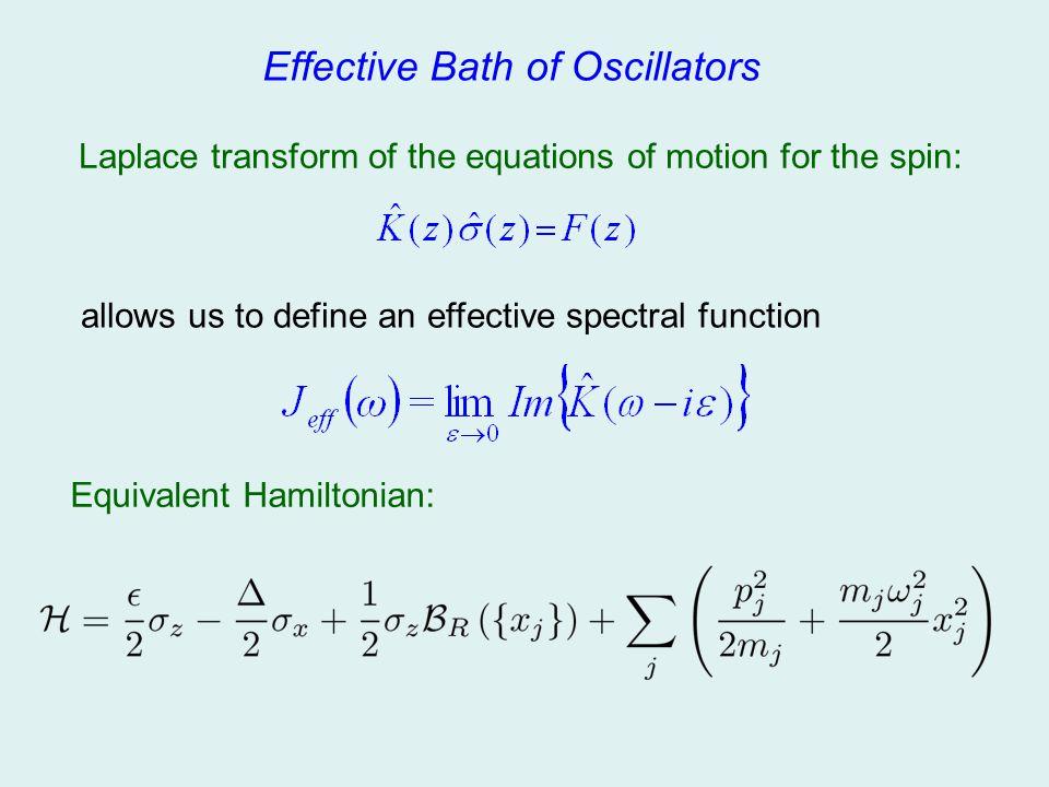 Effective Bath of Oscillators