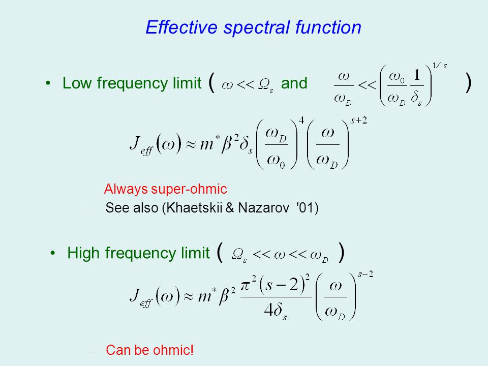 Effective spectral function