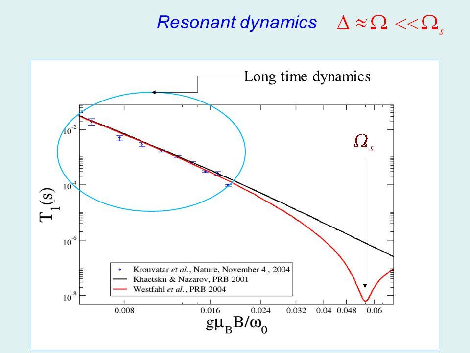 Resonant dynamics Long time dynamics