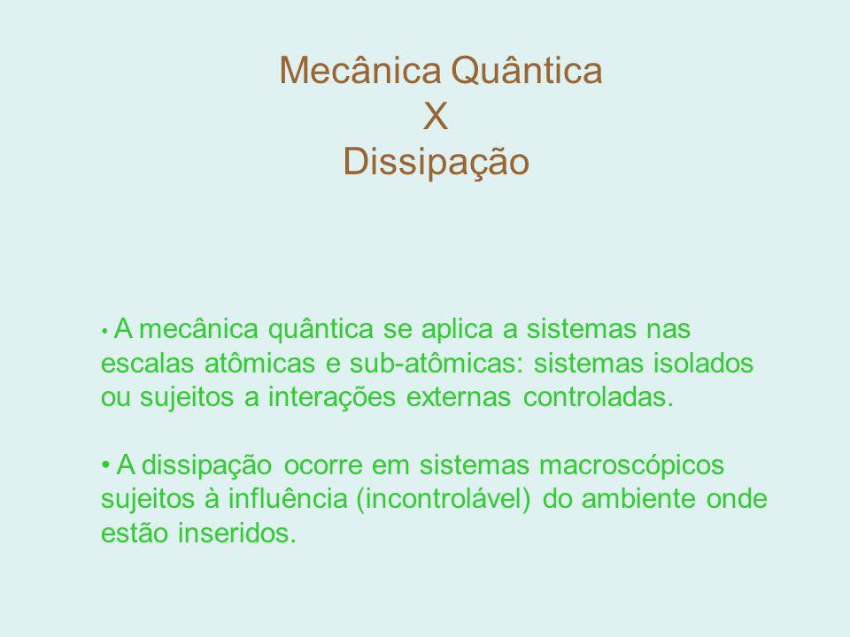 Mecânica Quântica X Dissipação