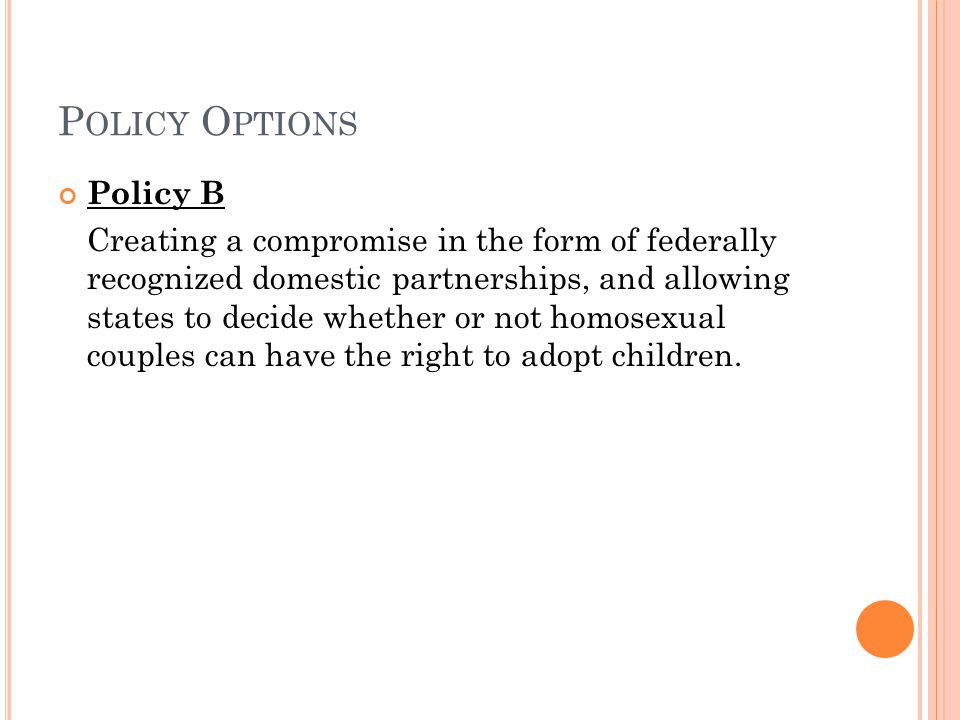 Policy Options Policy B
