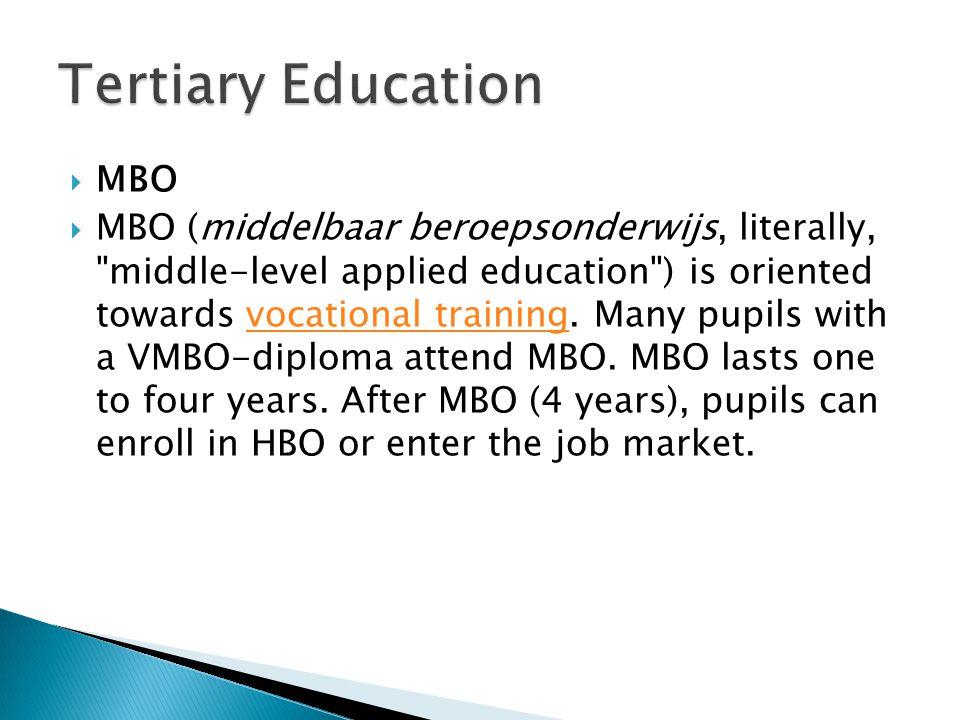 Tertiary Education MBO