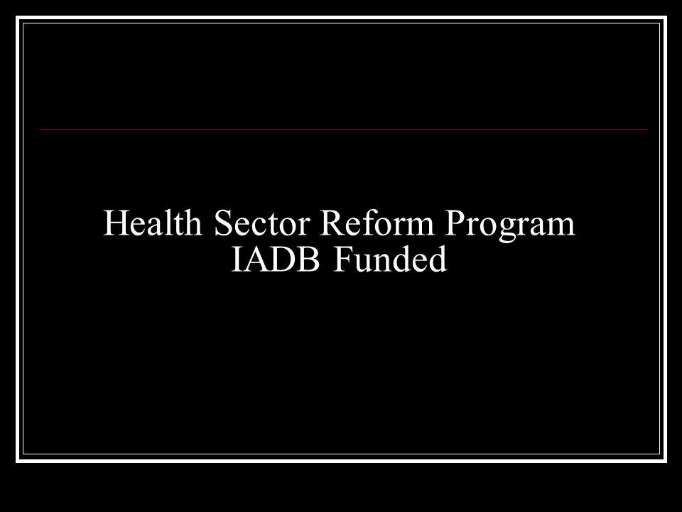 Health Sector Reform Program IADB Funded