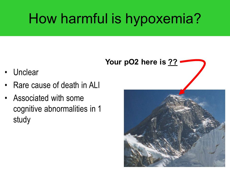 How harmful is hypoxemia