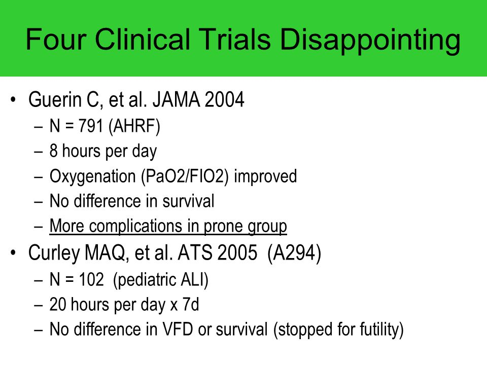 Four Clinical Trials Disappointing