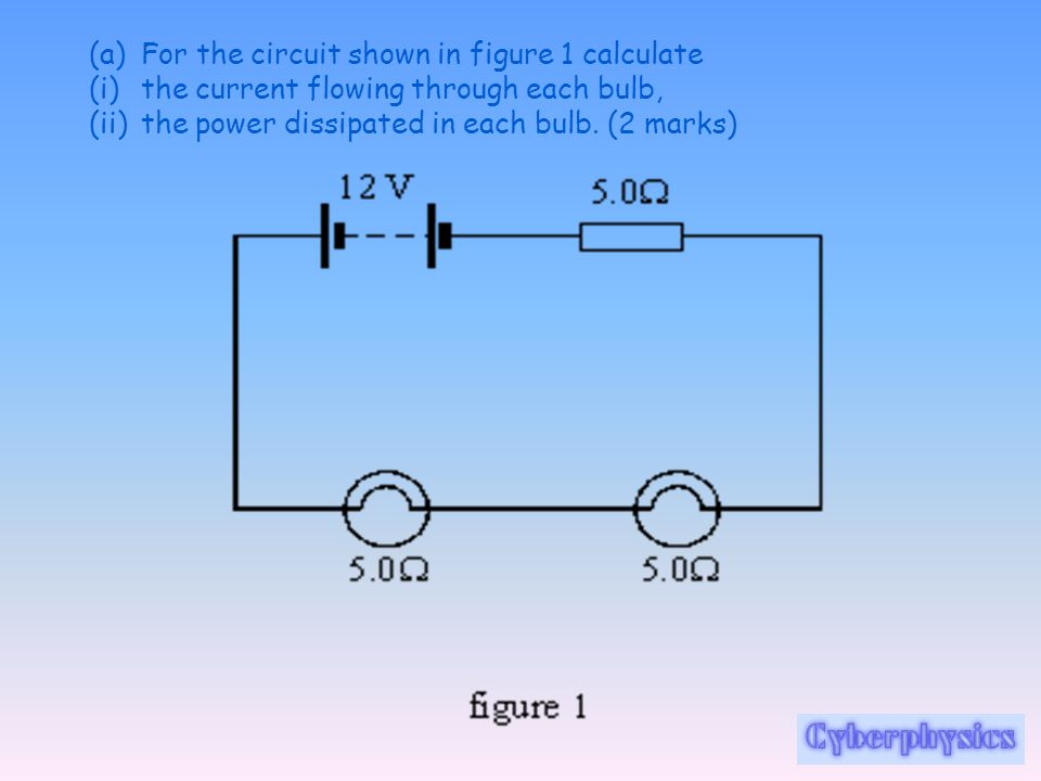 For the circuit shown in figure 1 calculate