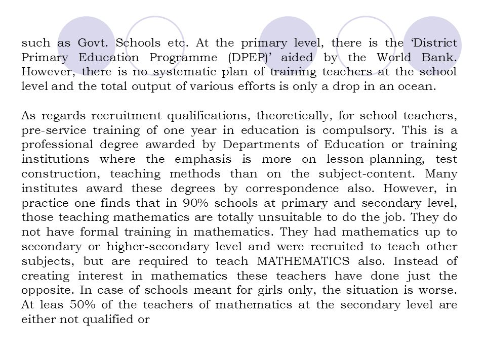 such as Govt. Schools etc