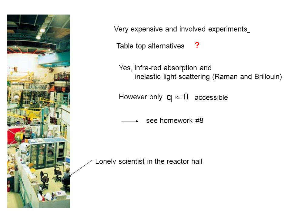 Very expensive and involved experiments Table top alternatives