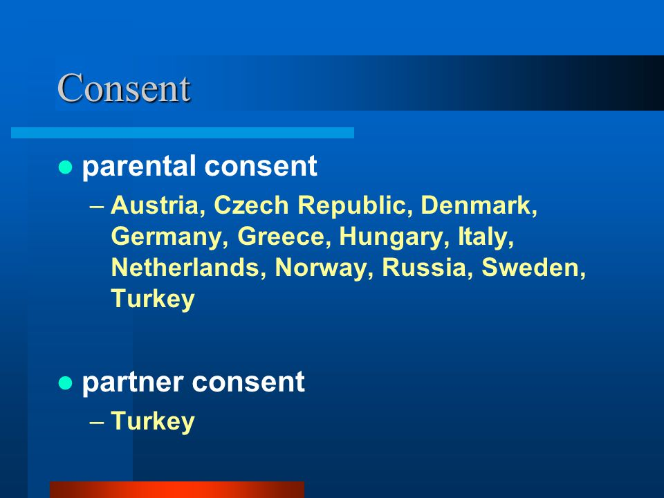 Consent parental consent partner consent