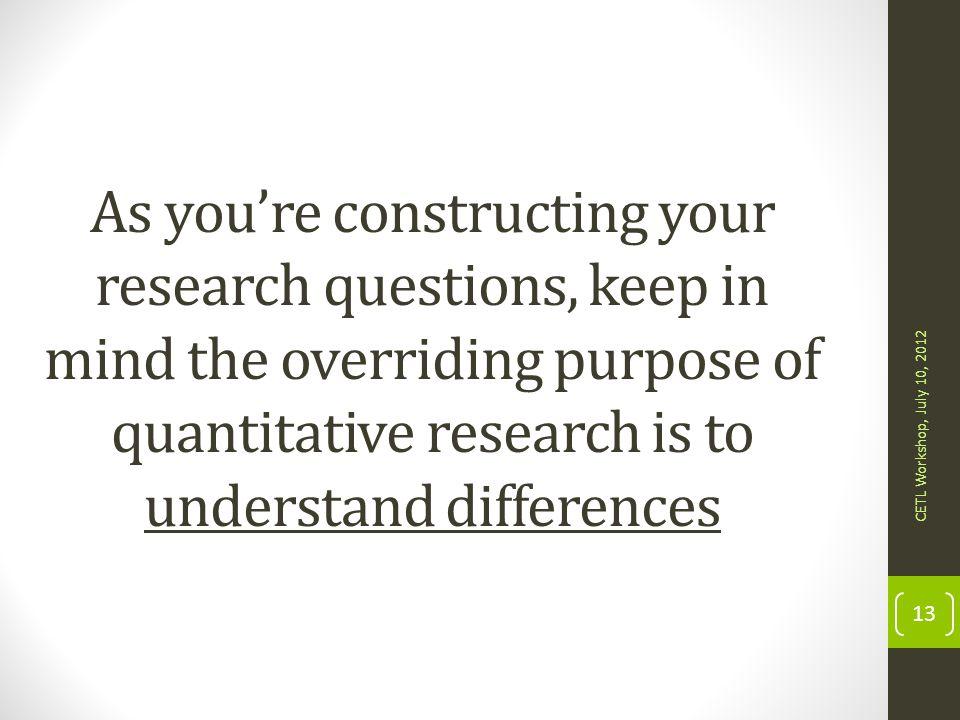 purpose of quantitative research pdf