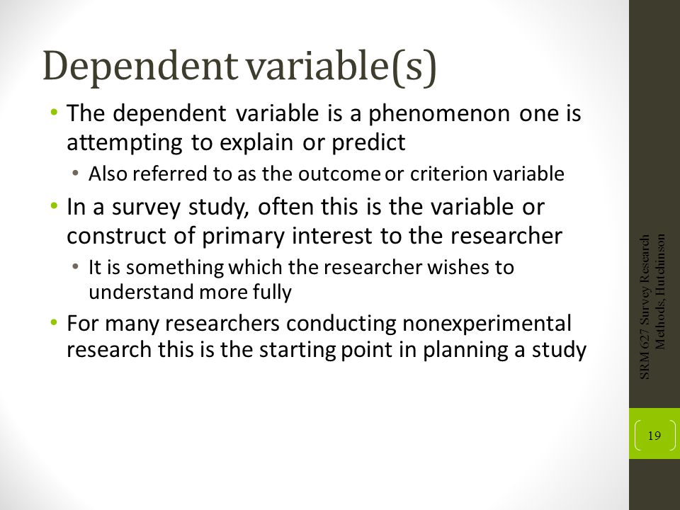 Dependent variable(s)