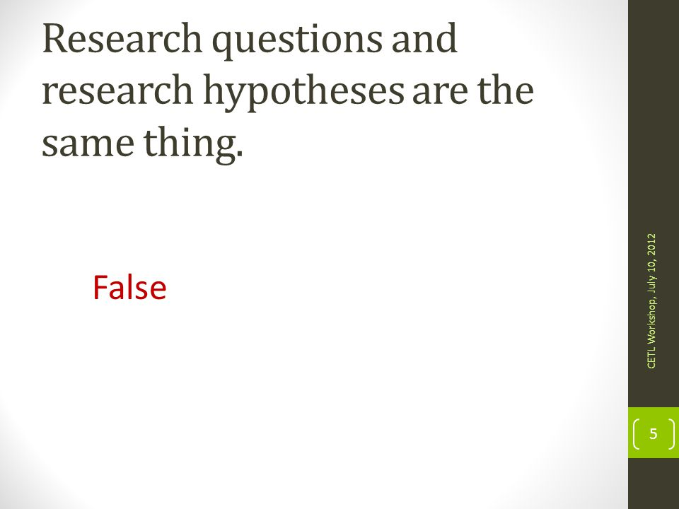 Research questions and research hypotheses are the same thing.