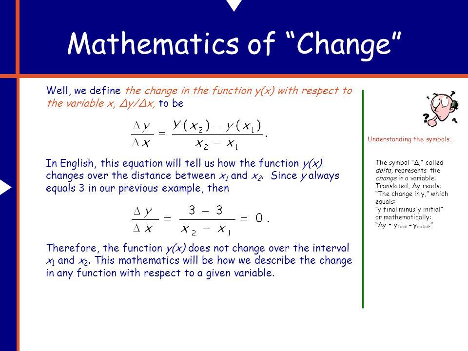 Mathematics of Change