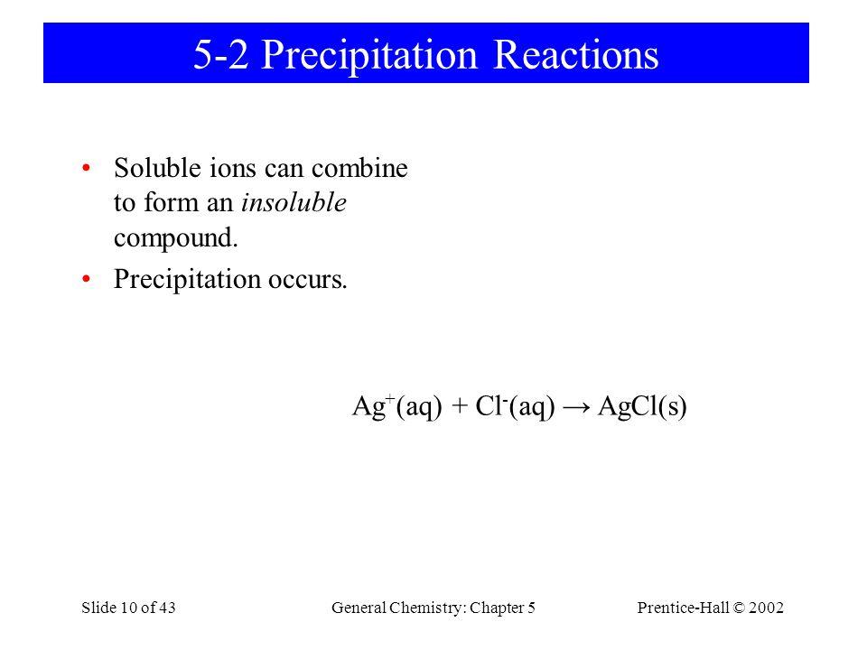 5-2 Precipitation Reactions