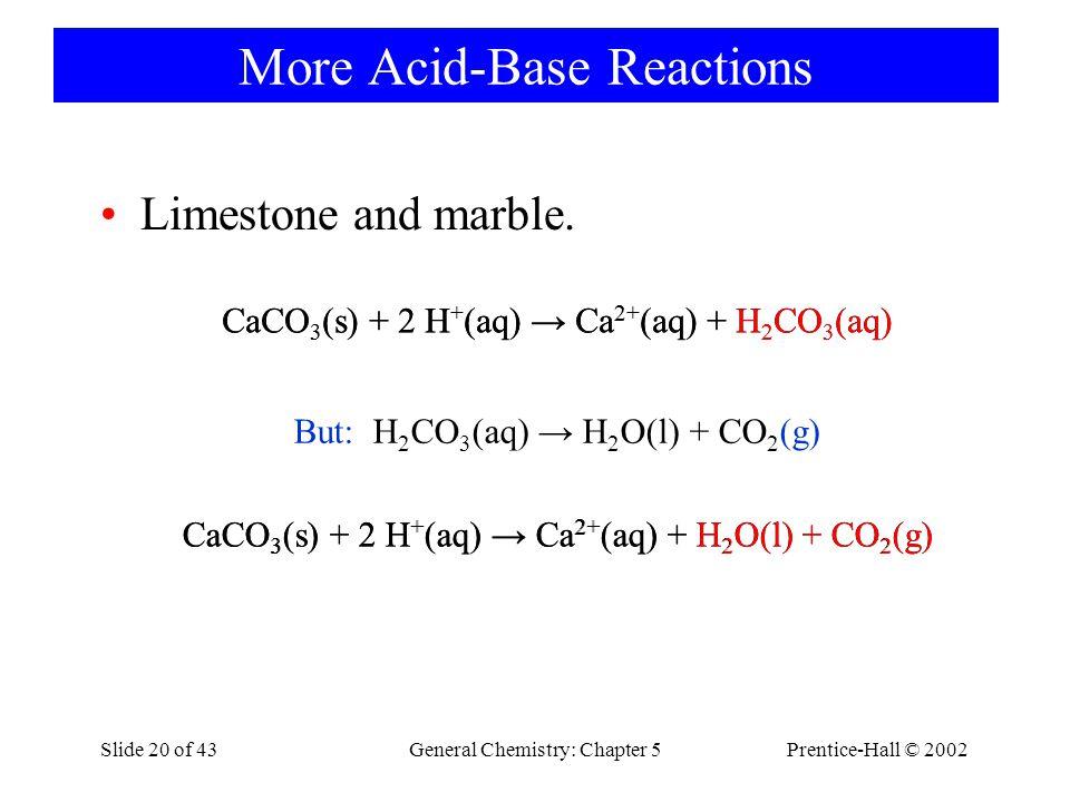 More Acid-Base Reactions