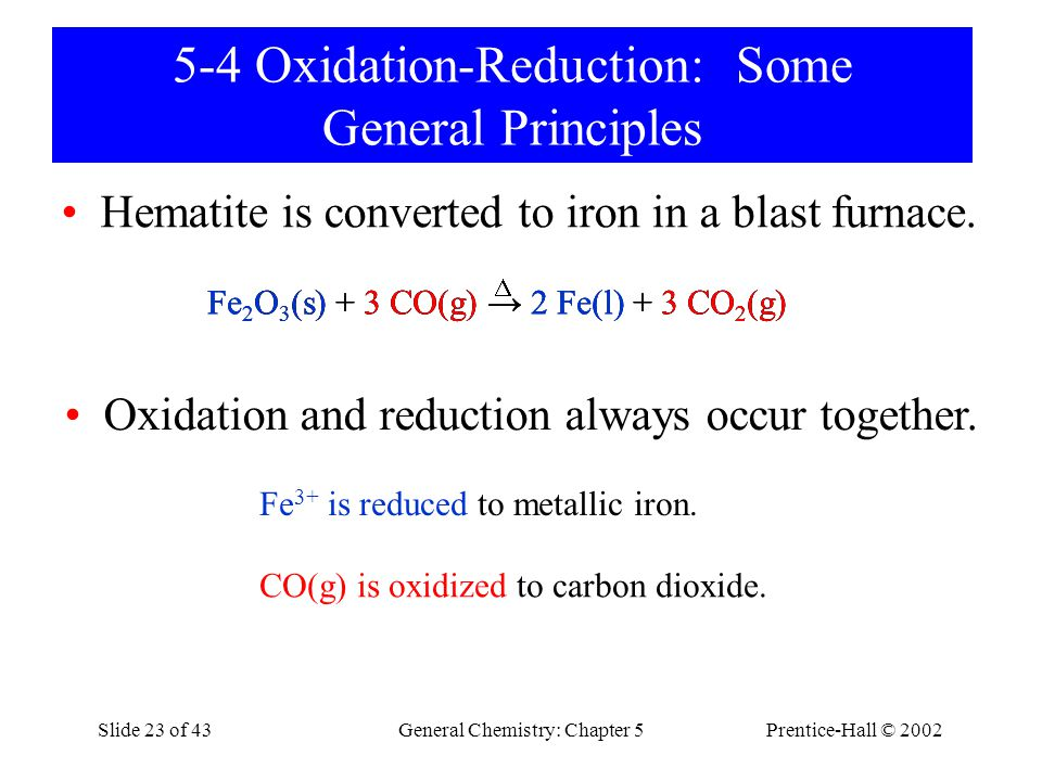 5-4 Oxidation-Reduction: Some General Principles