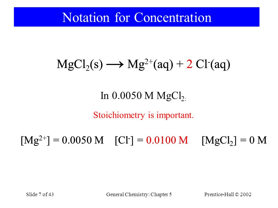 Notation for Concentration