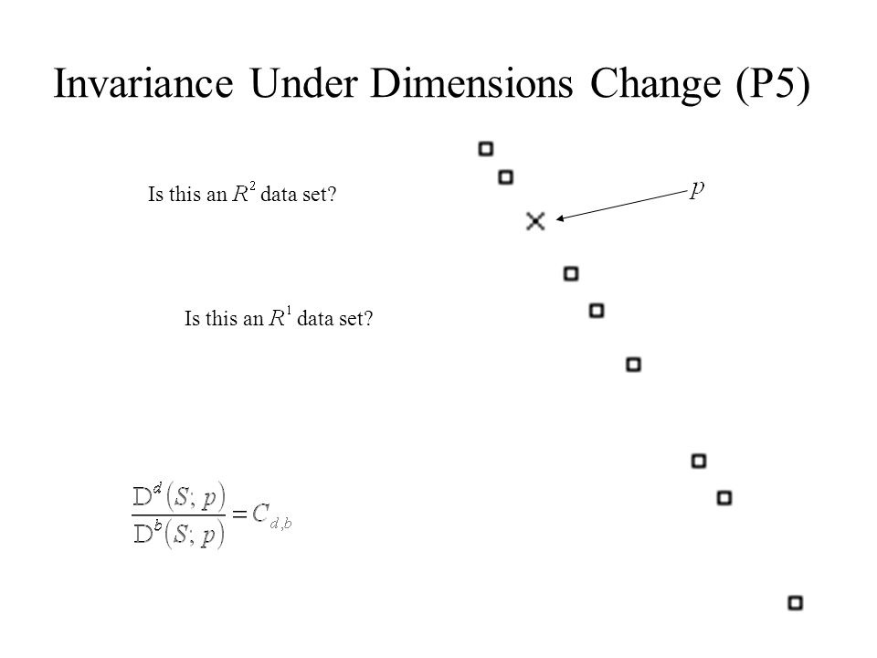 Invariance Under Dimensions Change (P5)