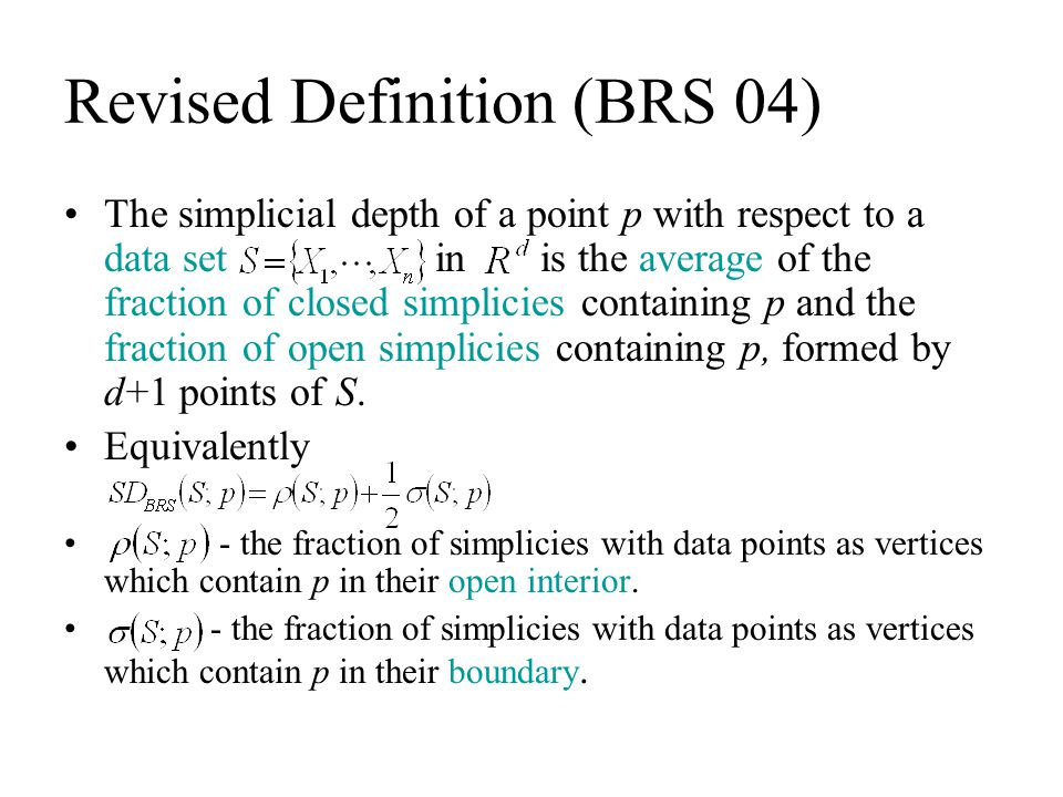 Revised Definition (BRS 04)