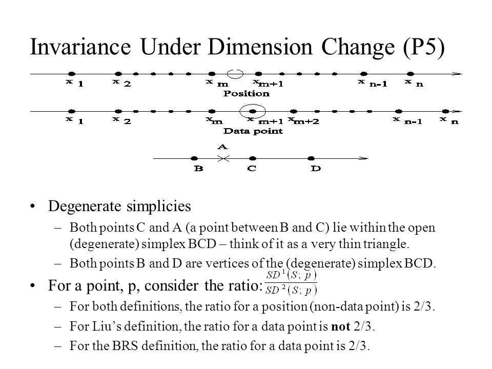 Invariance Under Dimension Change (P5)