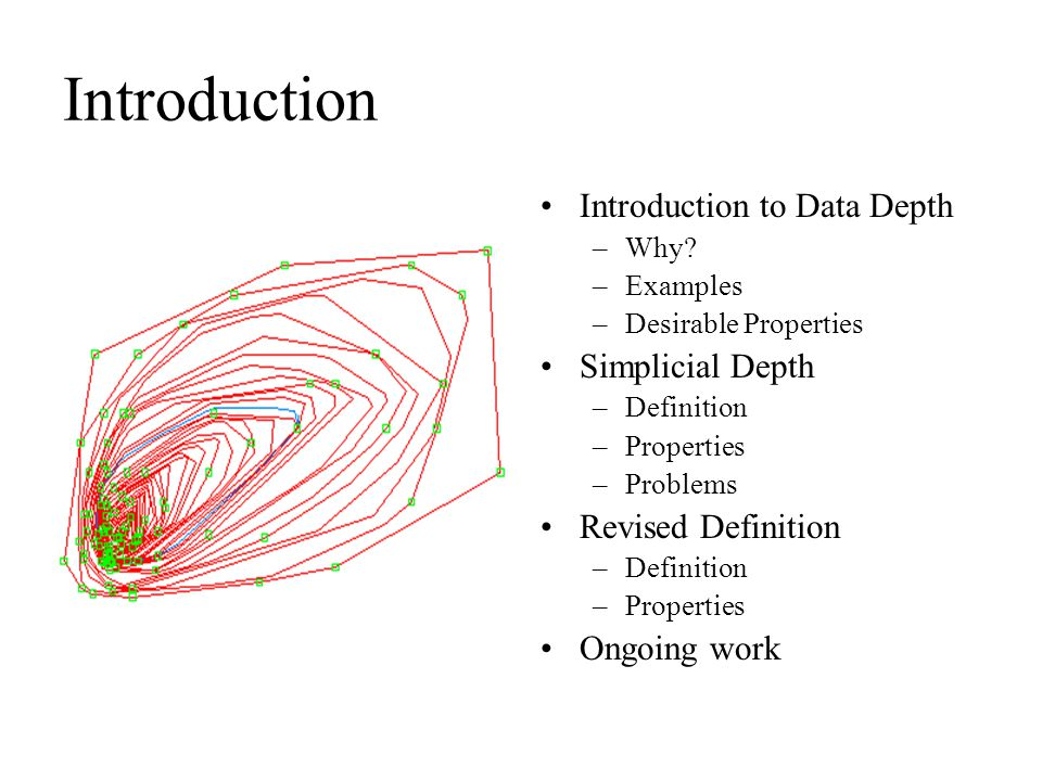 Introduction Introduction to Data Depth Simplicial Depth