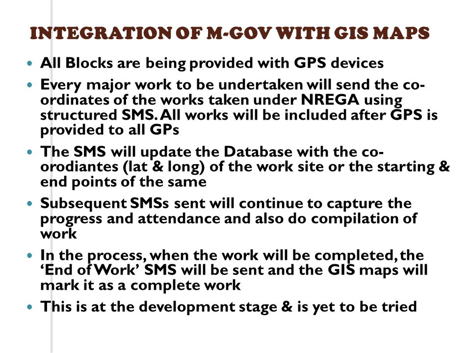 INTEGRATION OF M-GOV WITH GIS MAPS