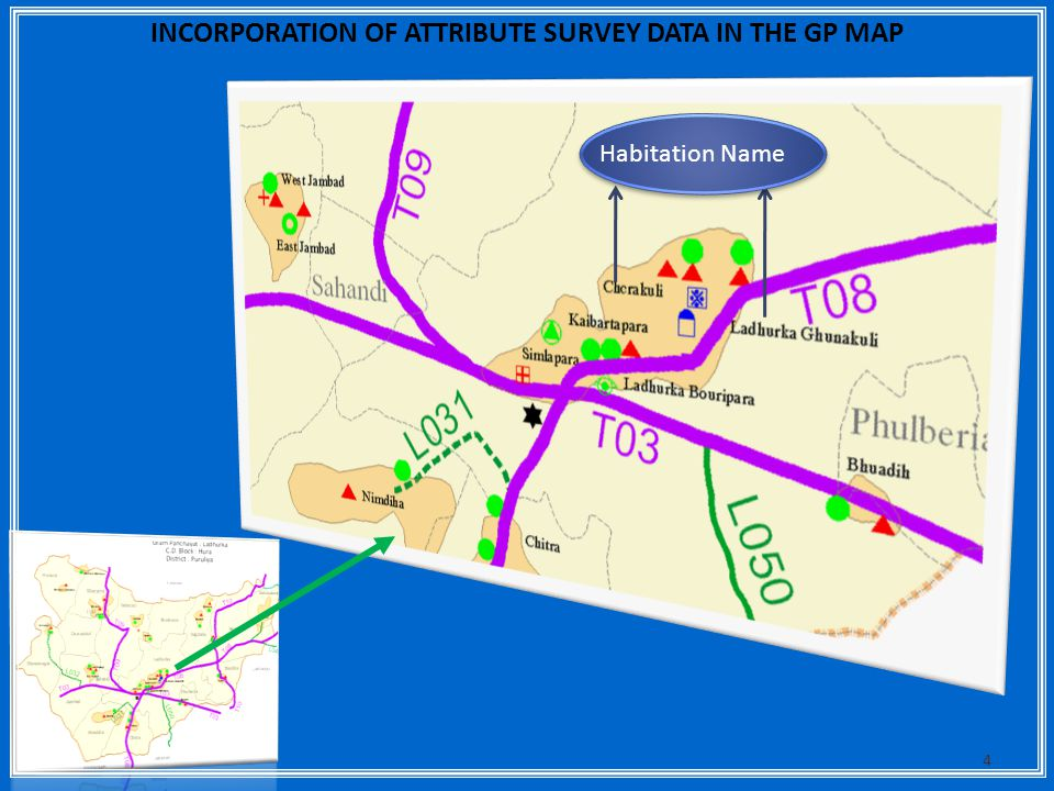 INCORPORATION OF ATTRIBUTE SURVEY DATA IN THE GP MAP