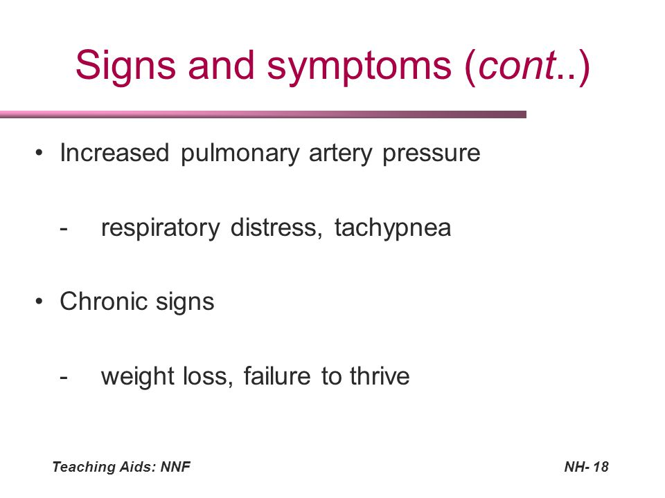 Signs and symptoms (cont..)