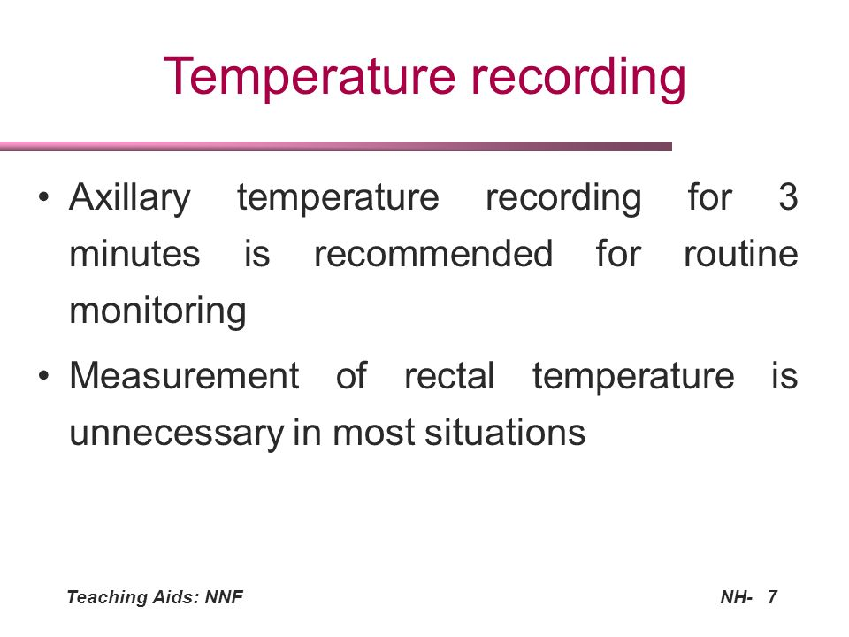 Temperature recording