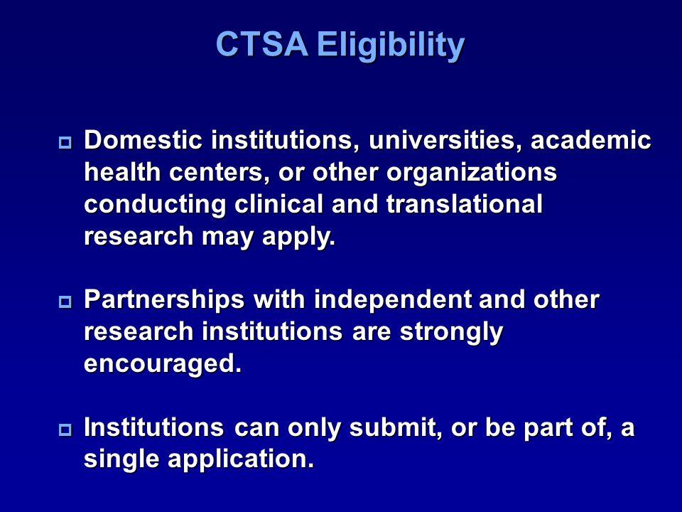 CTSA Eligibility