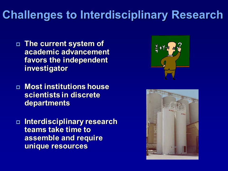 Challenges to Interdisciplinary Research