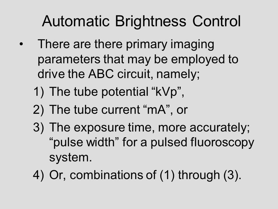 Automatic Brightness Control