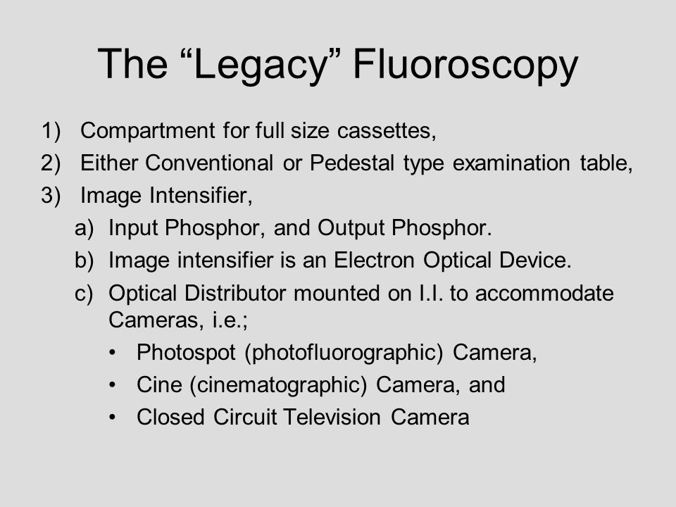 The Legacy Fluoroscopy